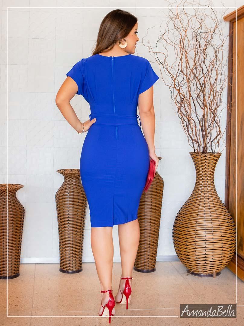 Vestido Tubinho Style Azul - Boutique k