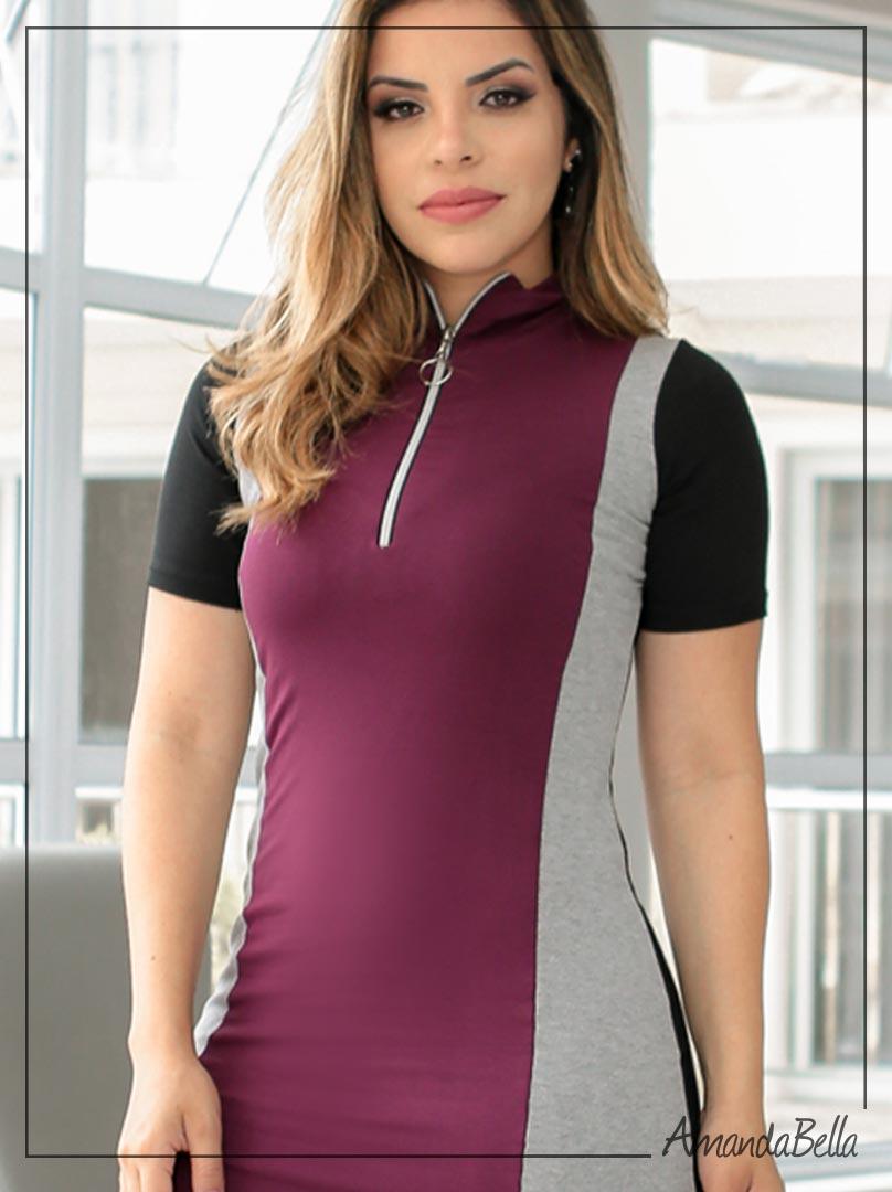 Vestido Tubinho Tricolor Sensation - Boutique K
