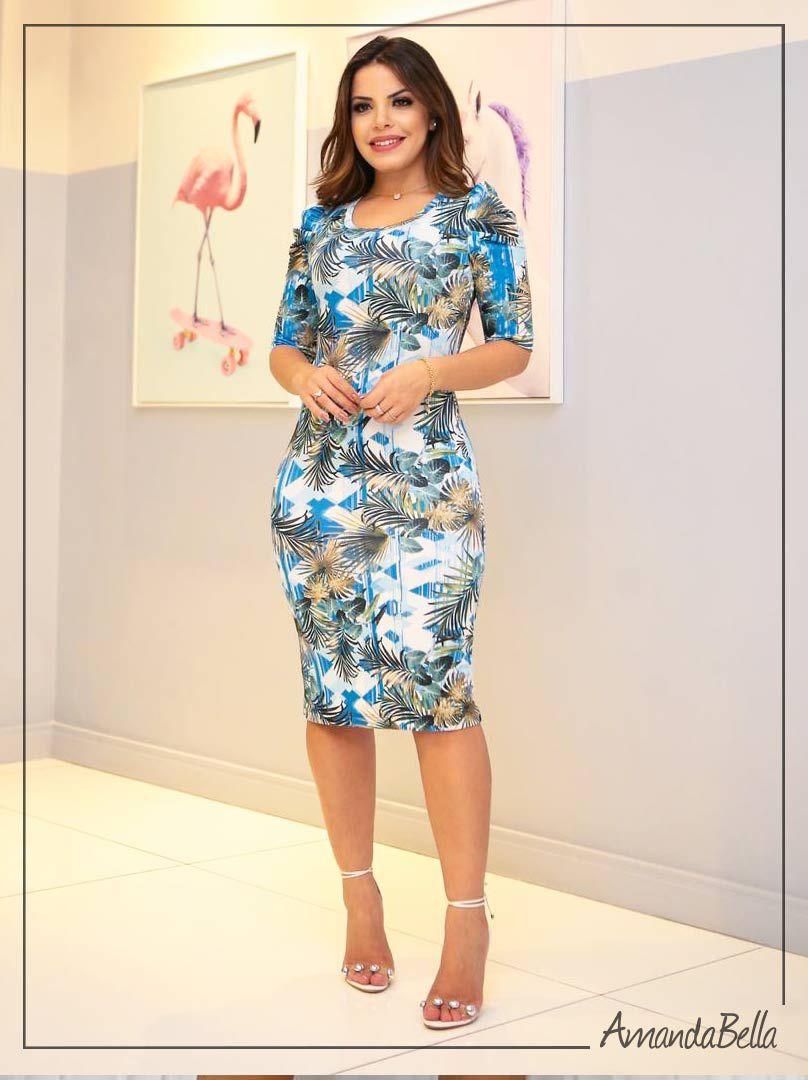 fe0a096c3f4 Vestido Tubo Estampado Floral - Boutique K