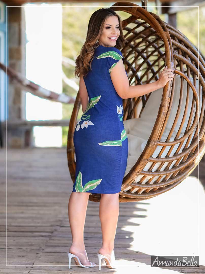 Vestido Tubo Transpassado Floral Exclusive - Boutique K