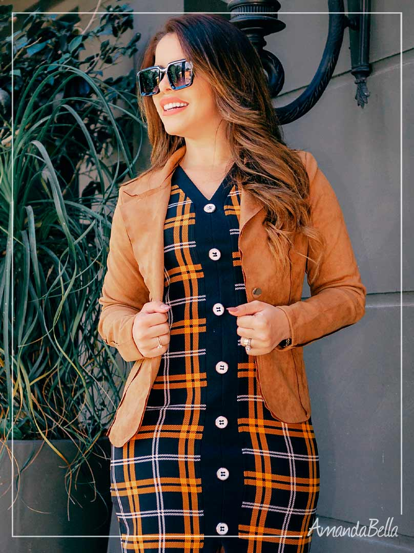 Vestido Xadrez Winter - Moda Feminina
