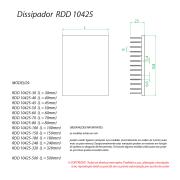 Dissipador de Calor RDD10425-400