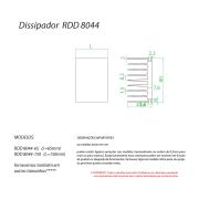 Dissipador de Calor RDD8044-250