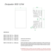 Dissipador de Calor RDD 12764-200