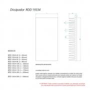 Dissipador de Calor RDD 19334-300