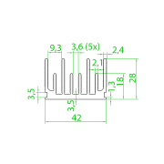 Dissipador de Calor RDD 4328-300