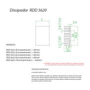 Dissipador de Calor RDD 5620-500