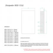 Dissipador RDD 17232L-275