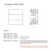 Dissipador de Calor RDD12764L-68,5