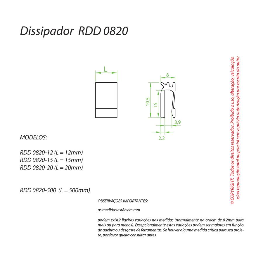 Dissipador de Calor RDD 0820-20