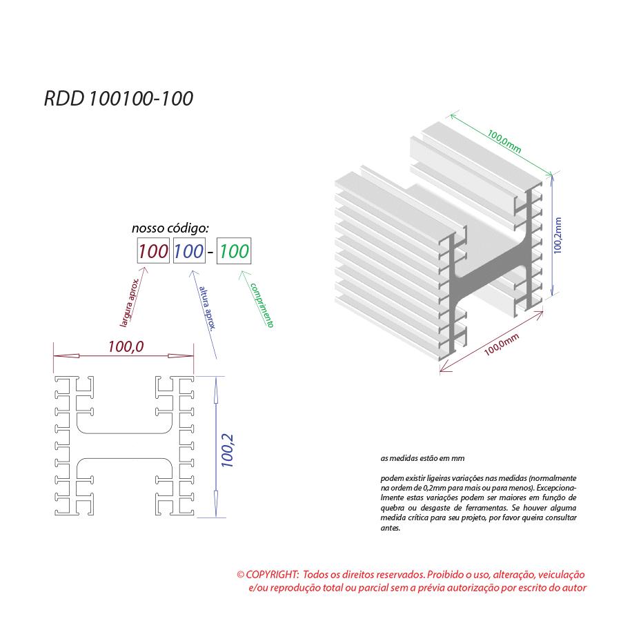 Dissipador de calor RDD 100100-100