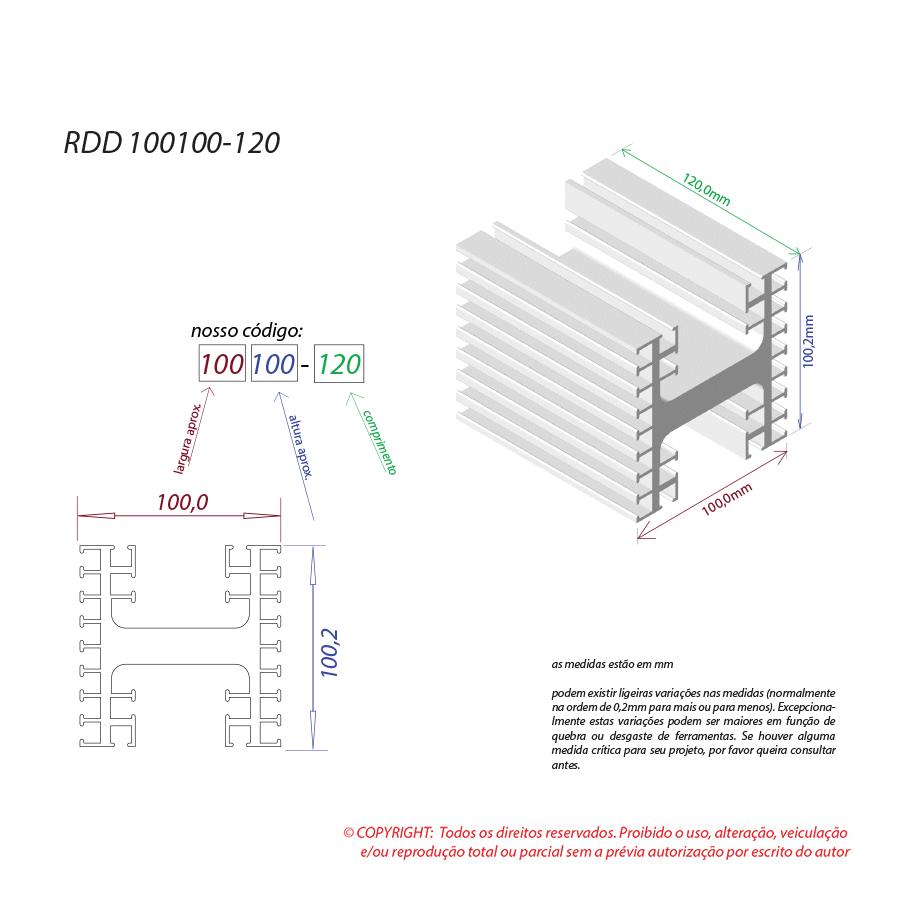 Dissipador de calor RDD 100100-120