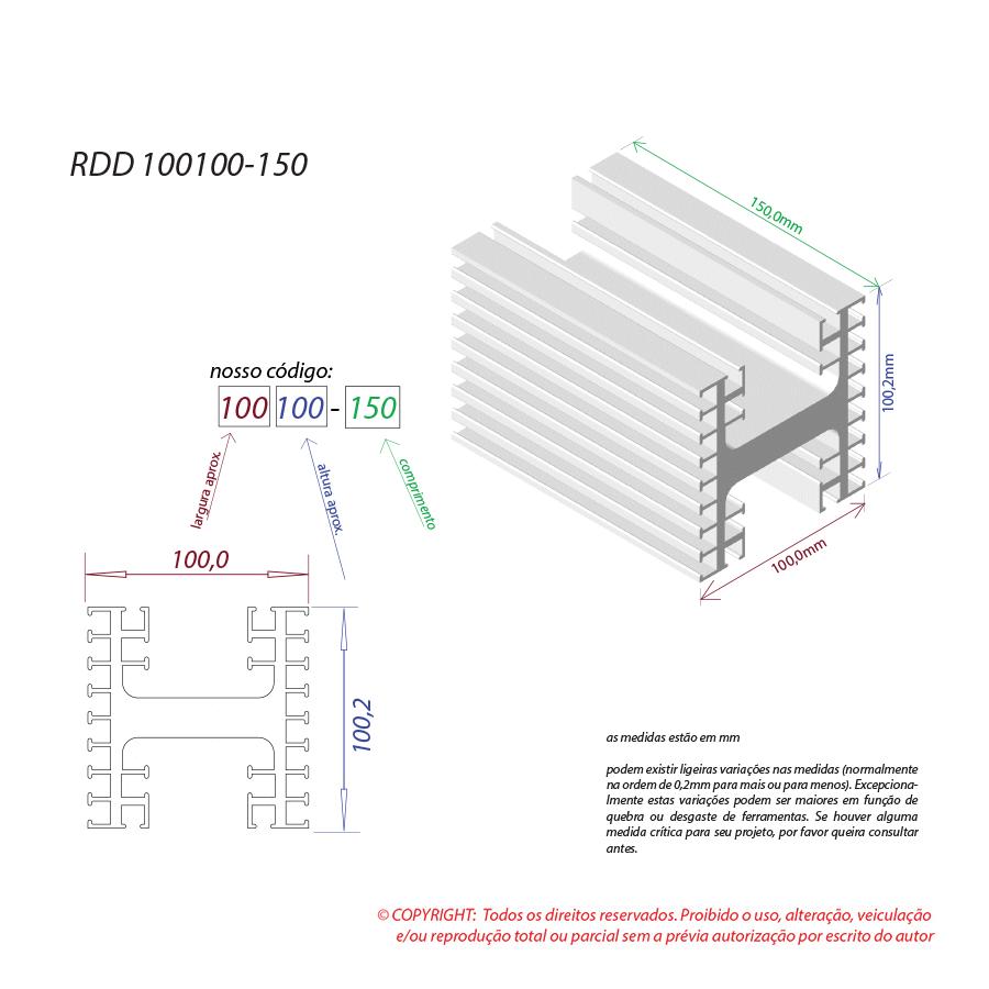 Dissipador de calor RDD 100100-150