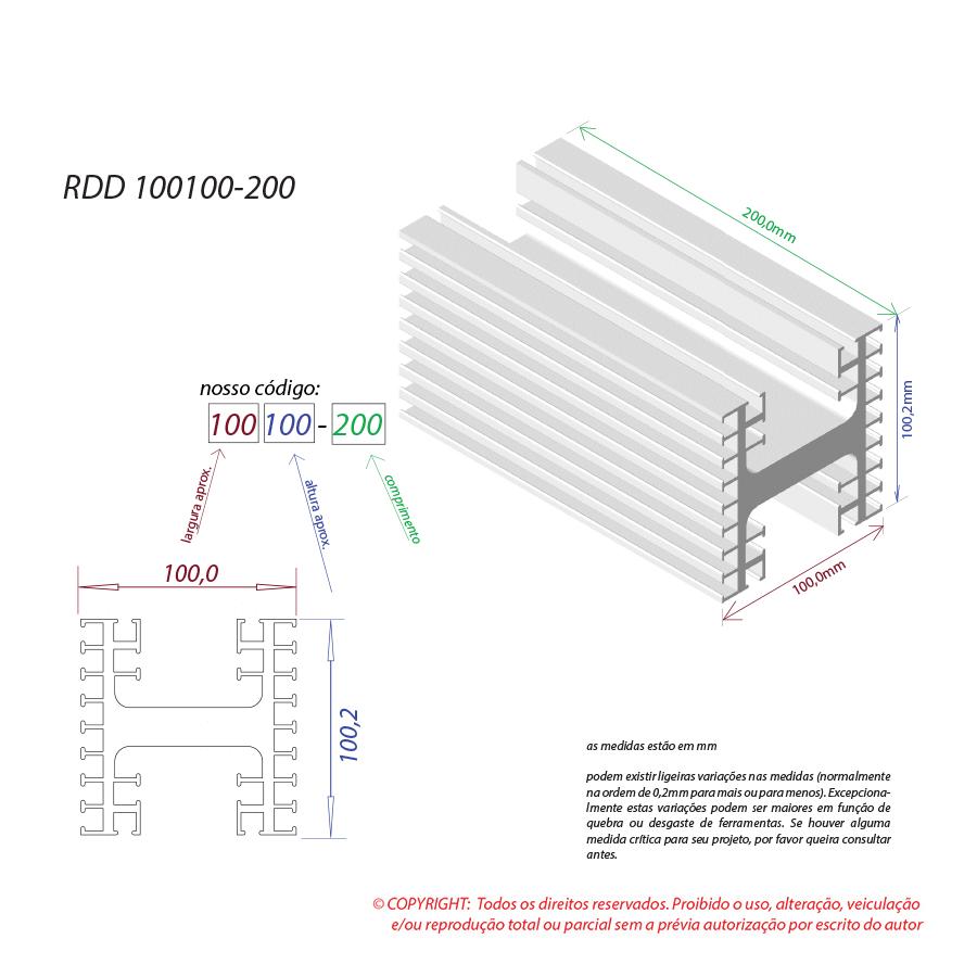 Dissipador de calor RDD 100100-200