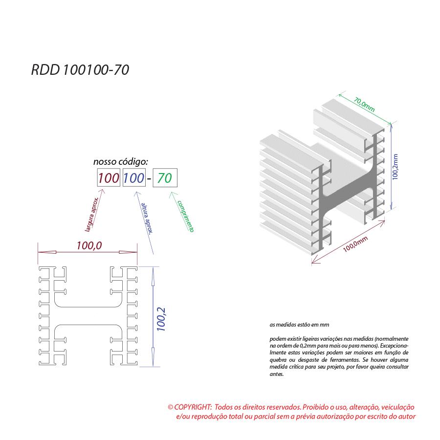 Dissipador de calor RDD 100100-70