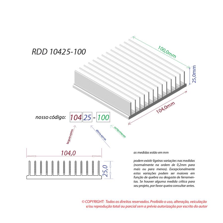 Dissipador de calor RDD 10425-100