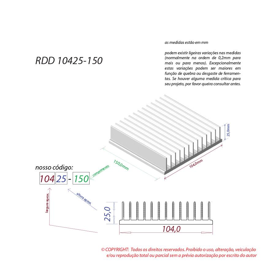 Dissipador de calor RDD 10425-150