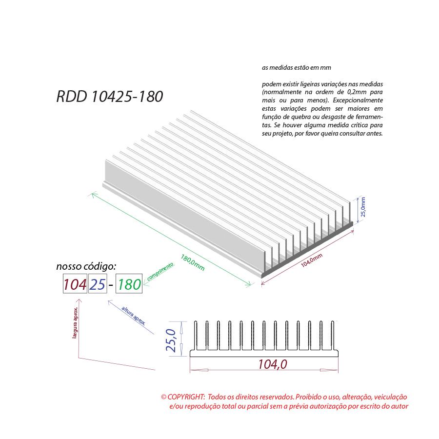 Dissipador de calor RDD 10425-180