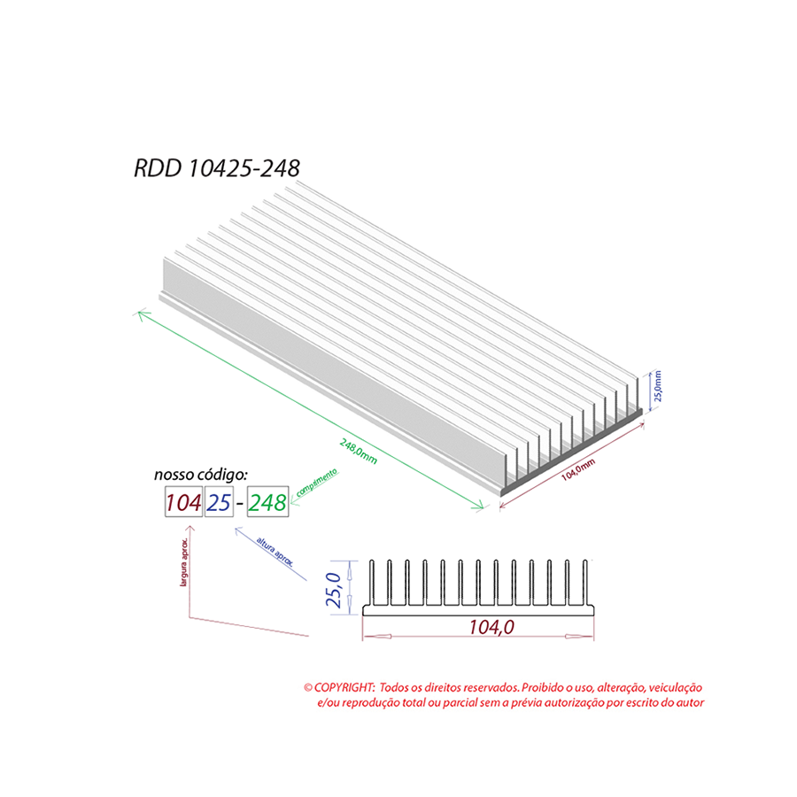 Dissipador de calor RDD 10425-248