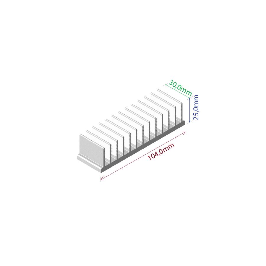 Dissipador de calor RDD 10425-30