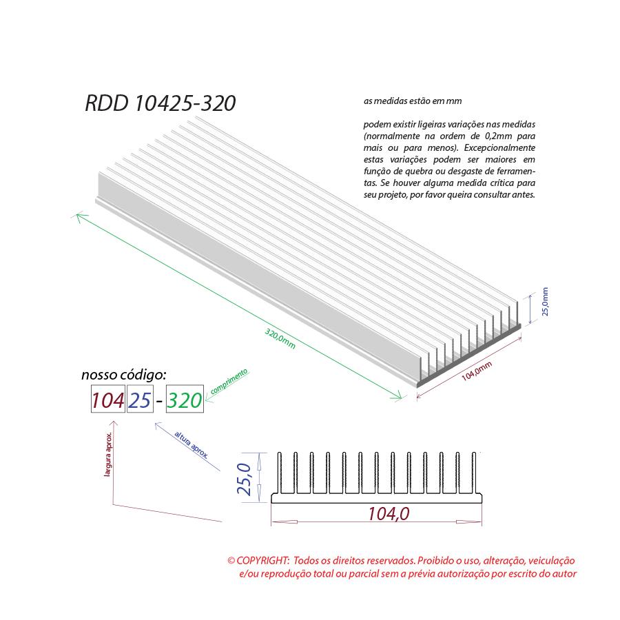 Dissipador de calor RDD 10425-320