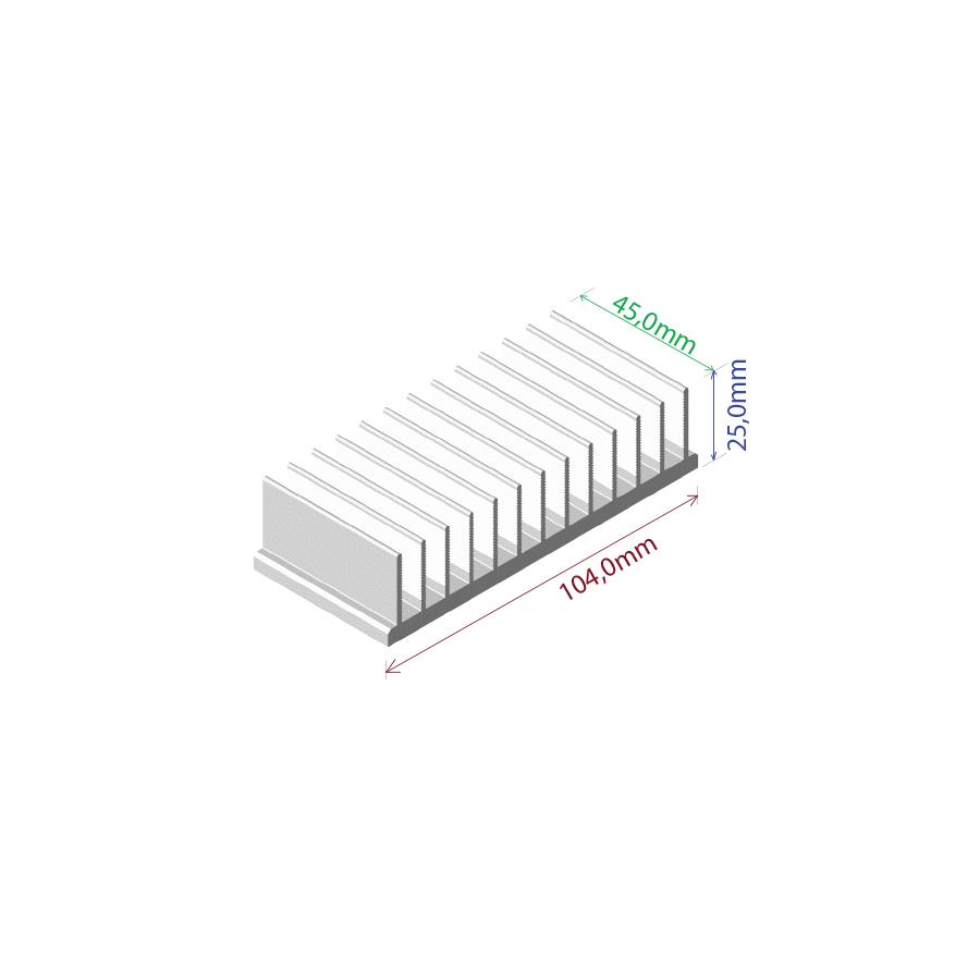 Dissipador de calor RDD 10425-45