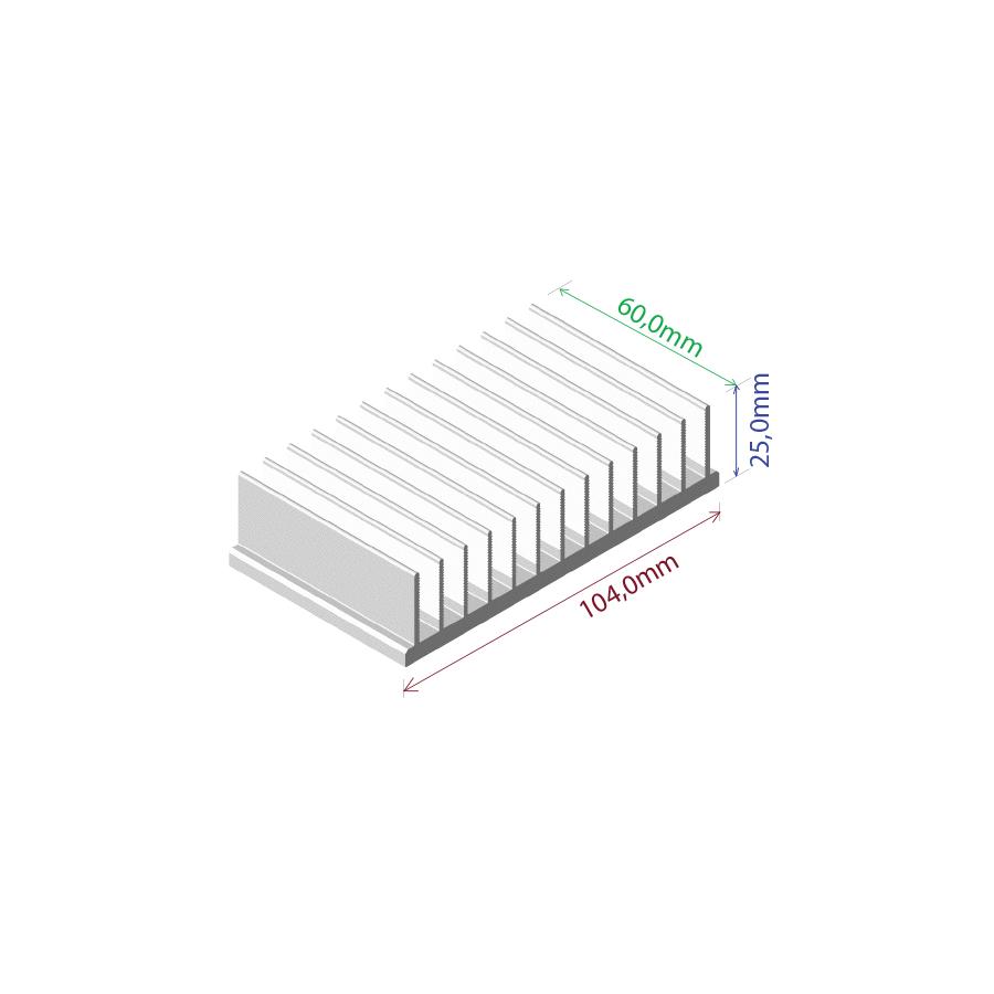 Dissipador de calor RDD 10425-60