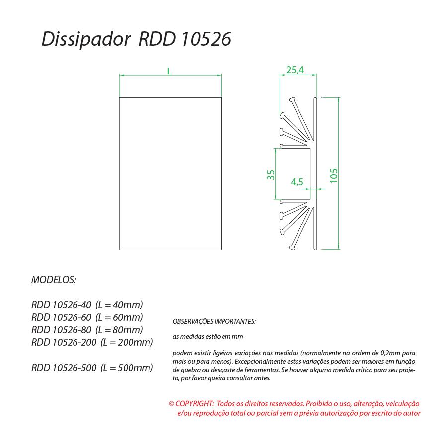 Dissipador de calor RDD 10526-80
