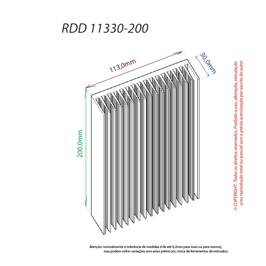 Dissipador de calor RDD 11330-200