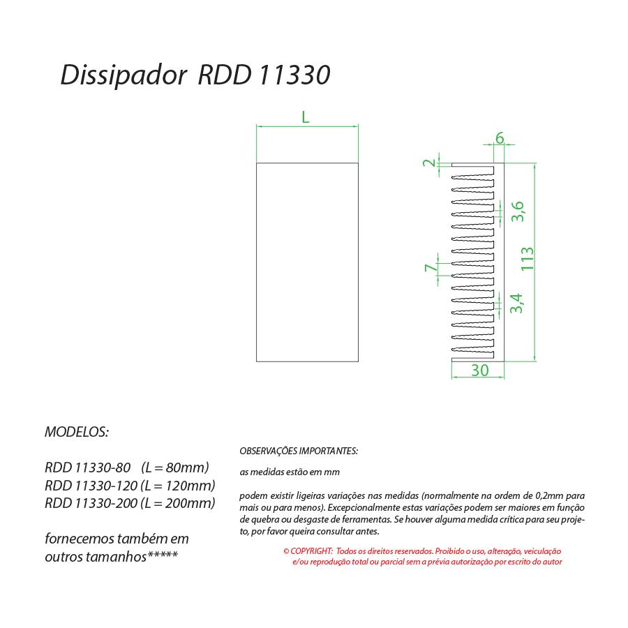 Dissipador de calor RDD 11330-80