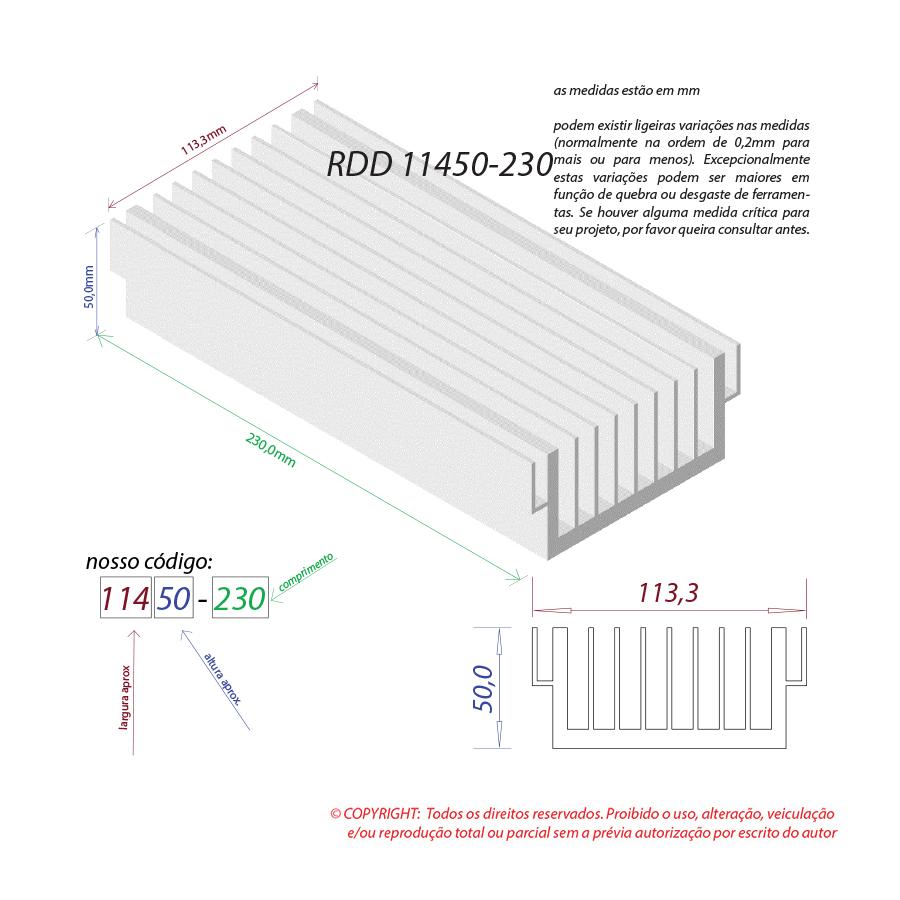 Dissipador de calor RDD 11450-230