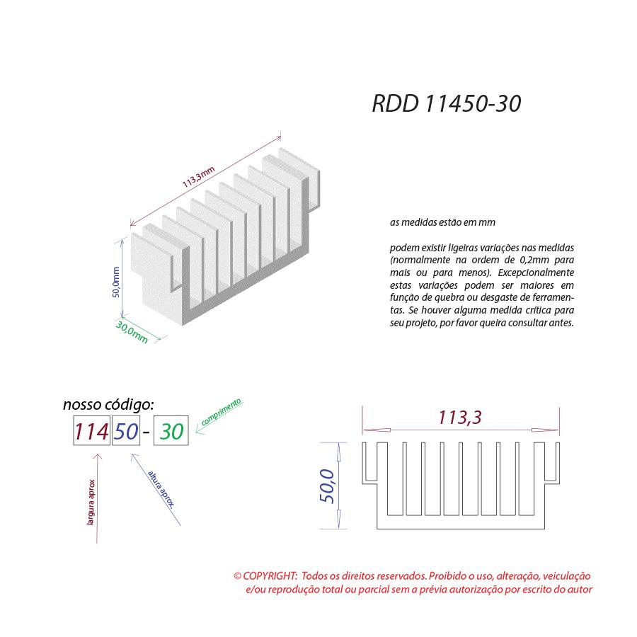 Dissipador de calor RDD 11450-30