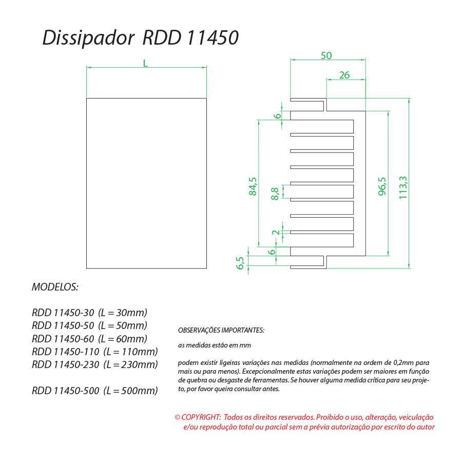 Dissipador de calor RDD 11450-50