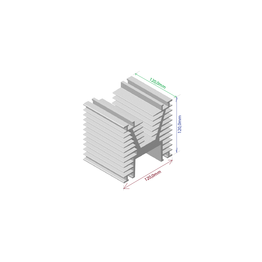 Dissipador de calor RDD 120120-120