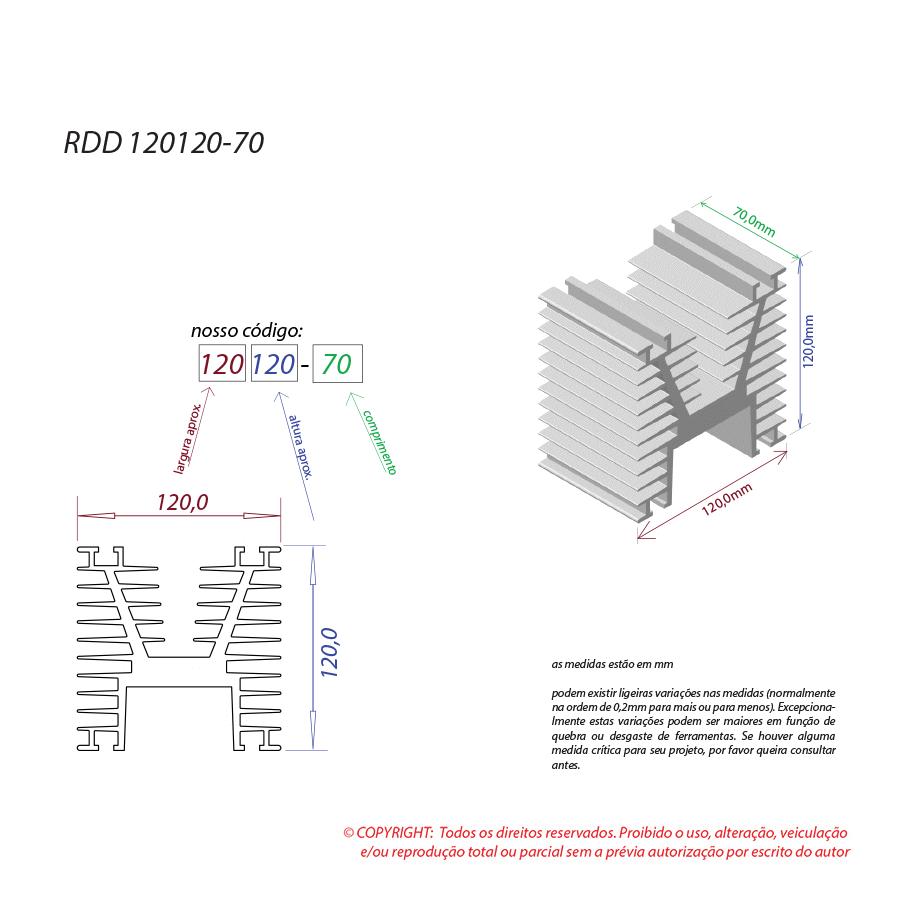 Dissipador de calor RDD 120120-70