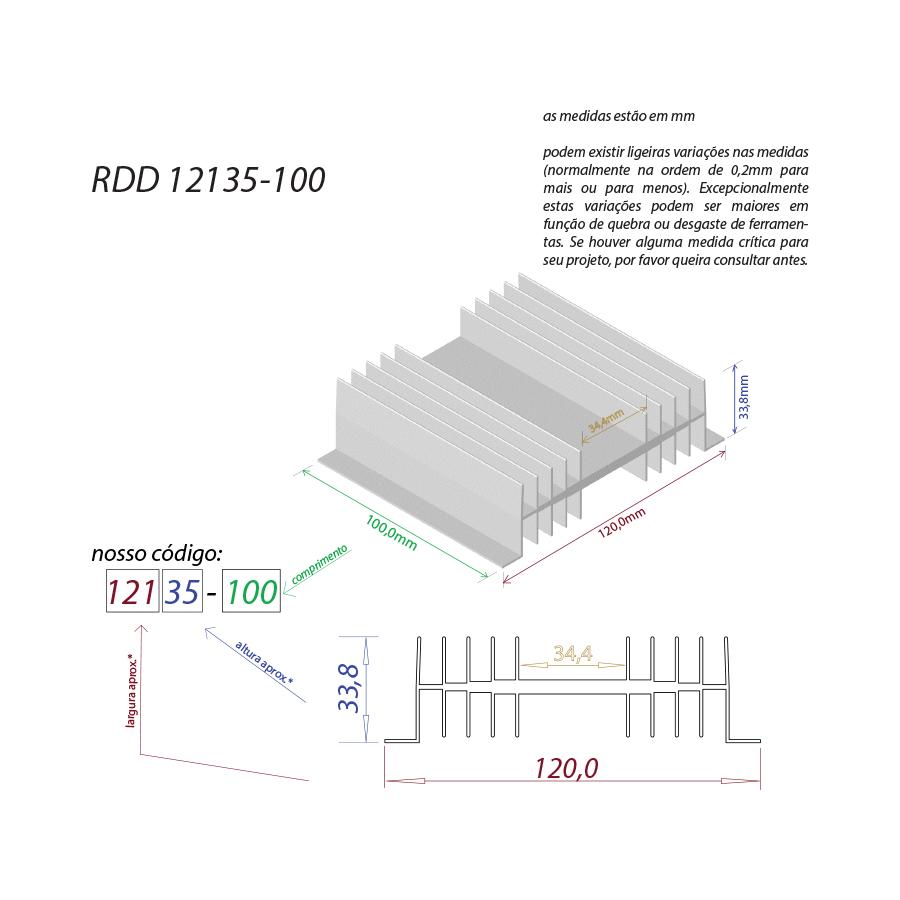 Dissipador de calor RDD 12135-100