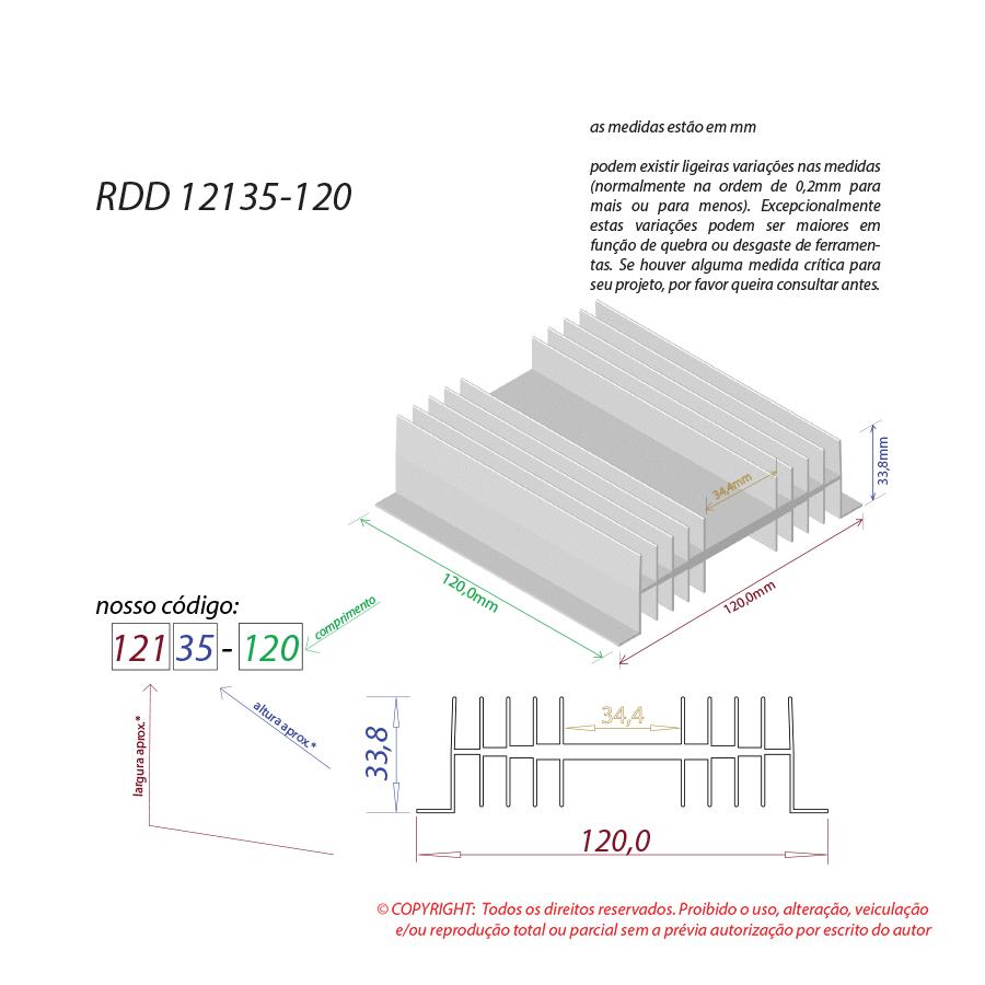 Dissipador de calor RDD 12135-120