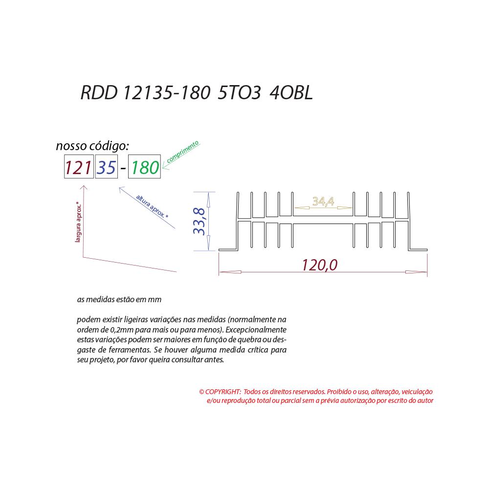 Dissipador de calor RDD 12135-180 5TO3
