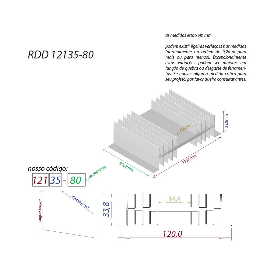 Dissipador de calor RDD 12135-80