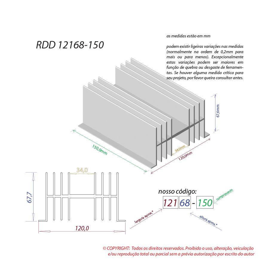 Dissipador de calor RDD 12168-150