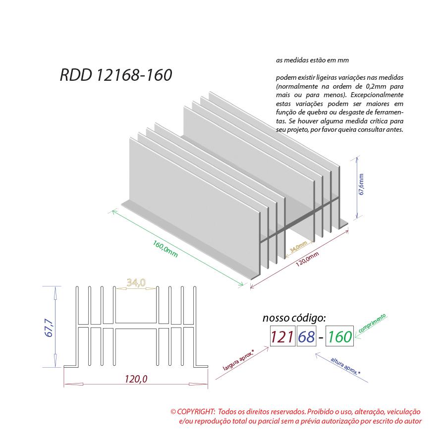 Dissipador de calor RDD 12168-160