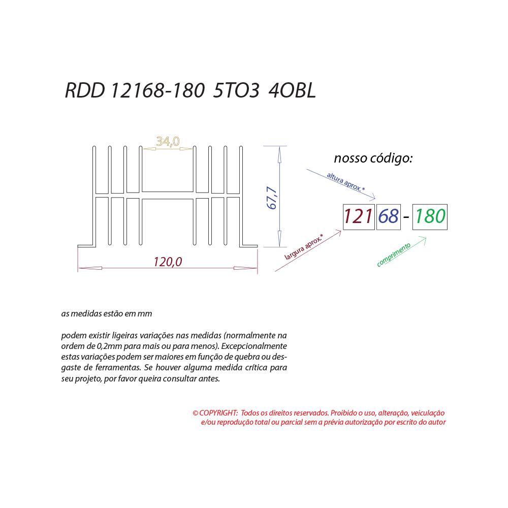Dissipador de calor RDD 12168-180 5TO3