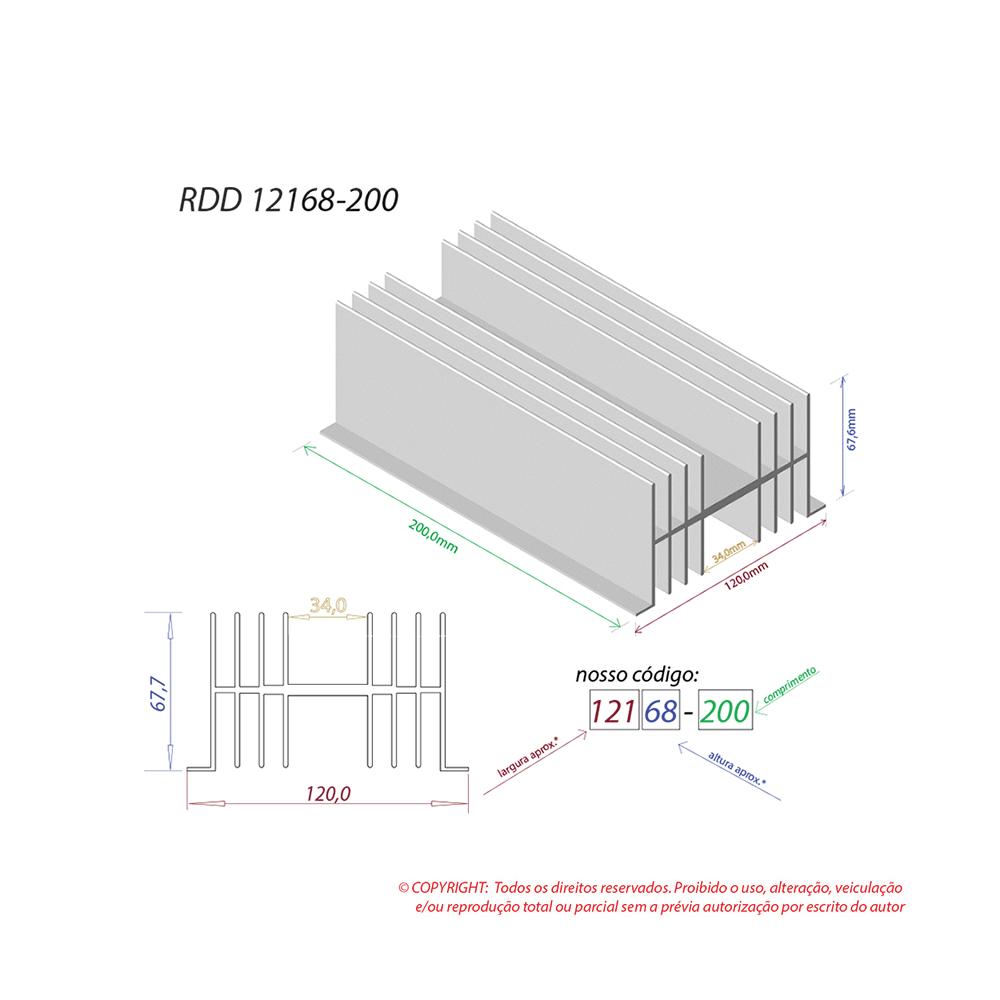 Dissipador de calor RDD 12168-200