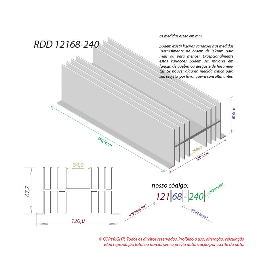 Dissipador de calor RDD 12168-240