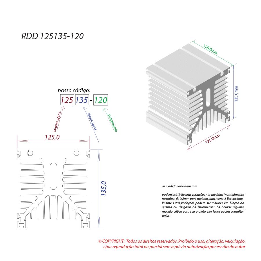 Dissipador de calor RDD 125135-120