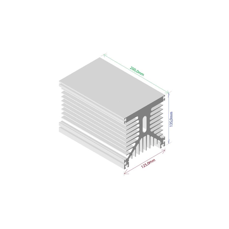 Dissipador de calor RDD 125135L-200