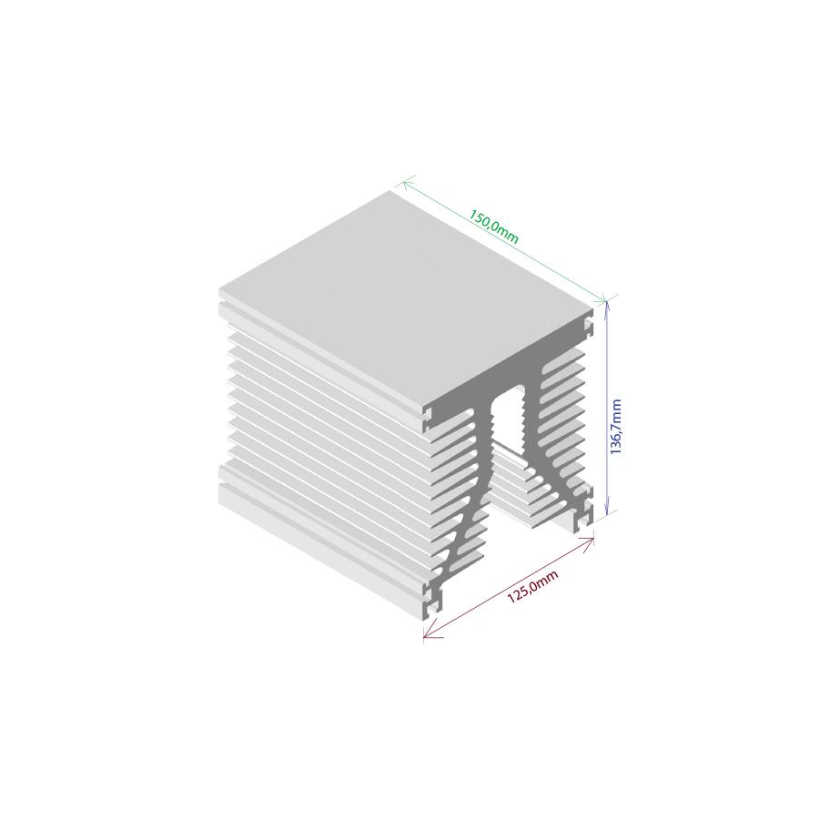 Dissipador de calor RDD 125137-150