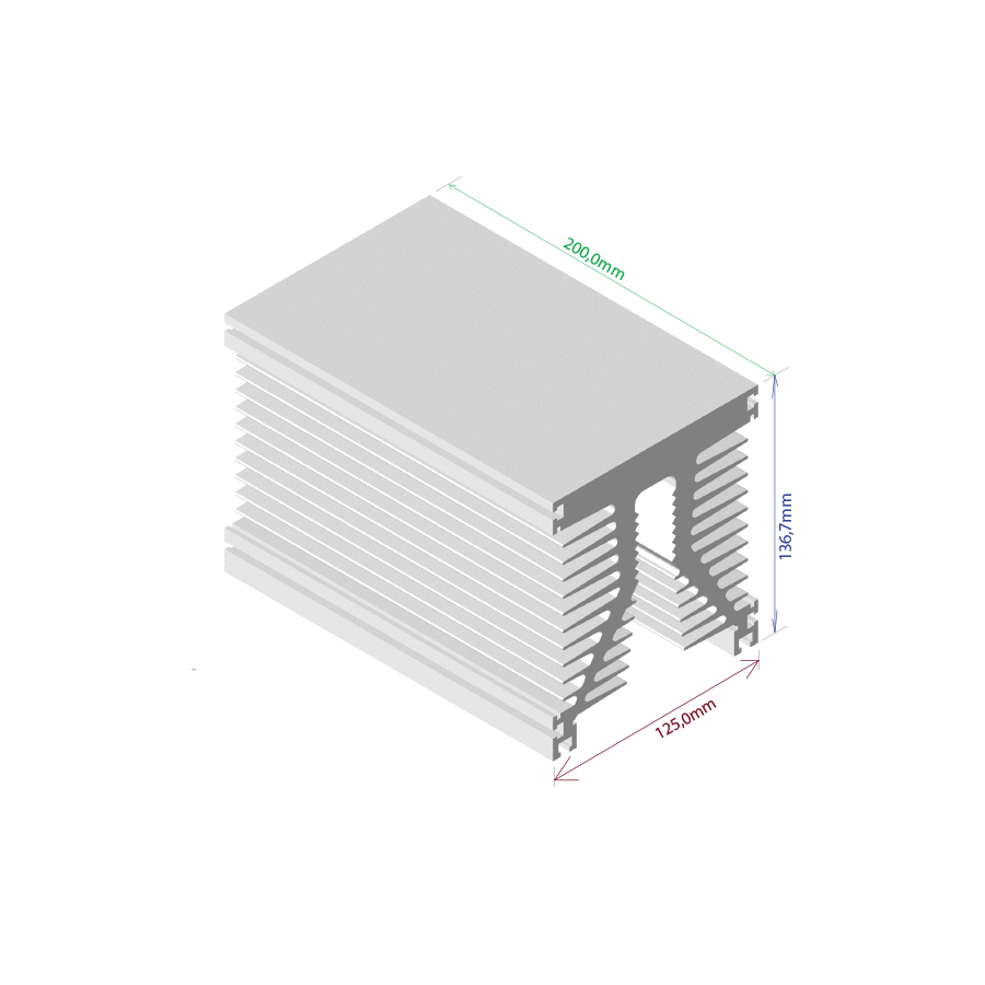 Dissipador de calor RDD 125137-200