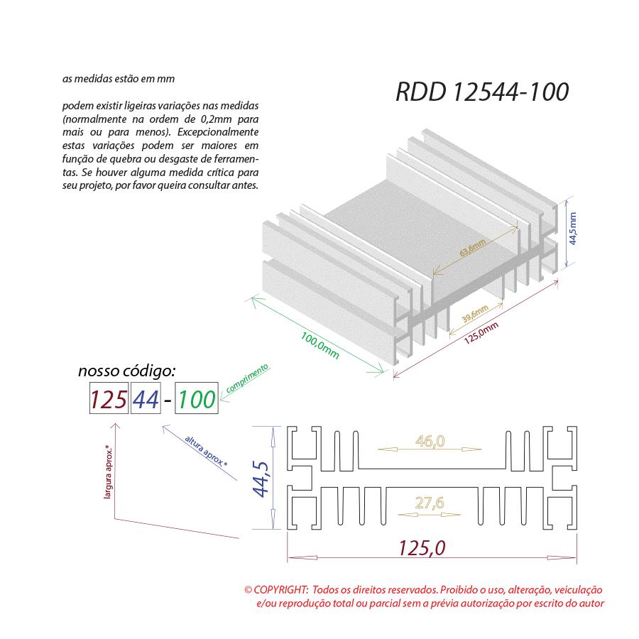 Dissipador de calor RDD 12544-100