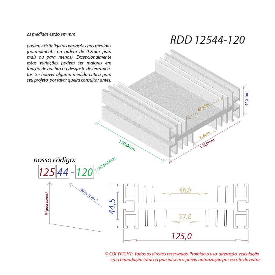Dissipador de calor RDD 12544-120
